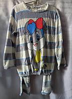 Пижама с зайчиком махровая теплая женская (L/48), фото 1