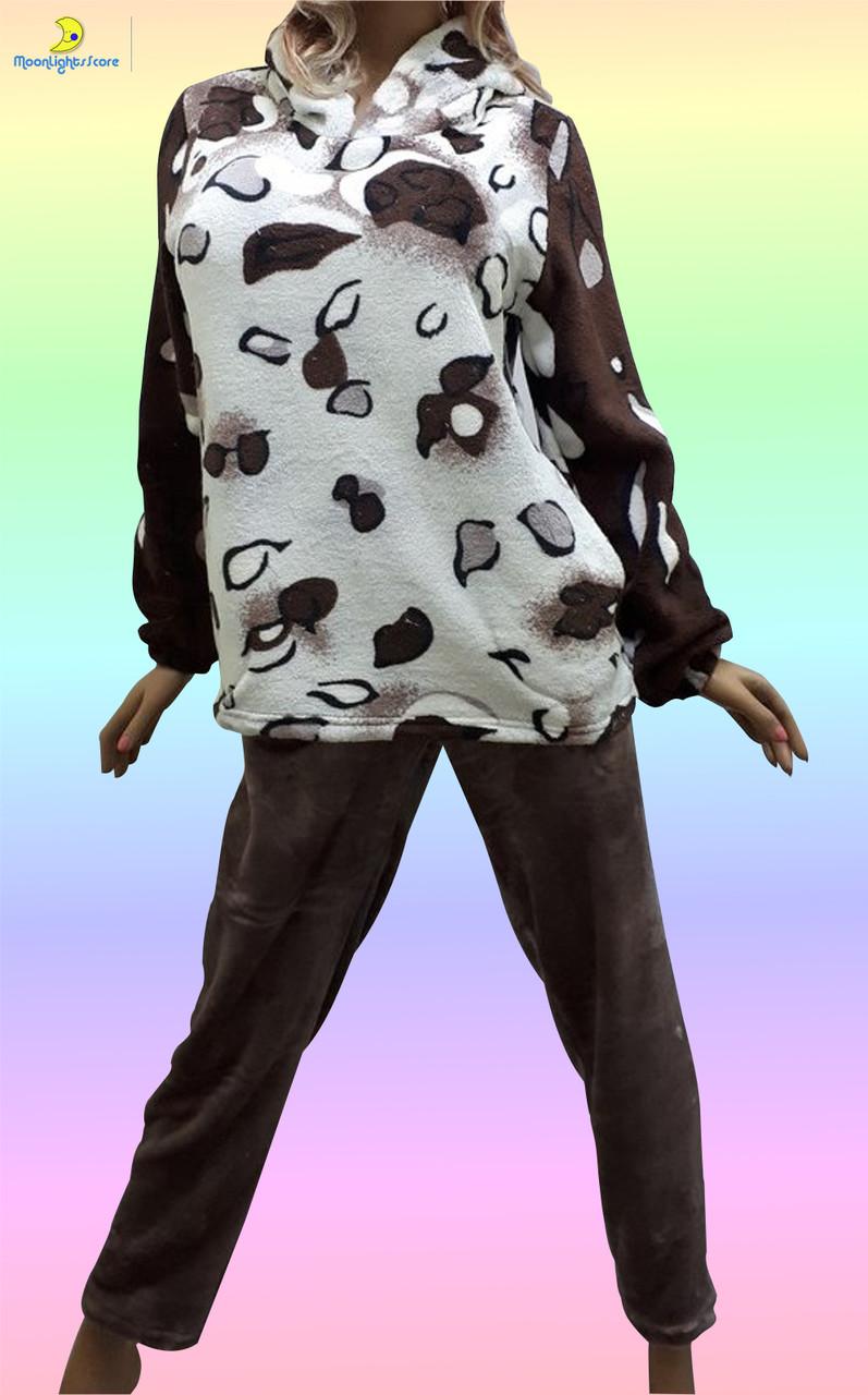 Домашняя одежда для женщин, пижама махровая. Размер 50-52