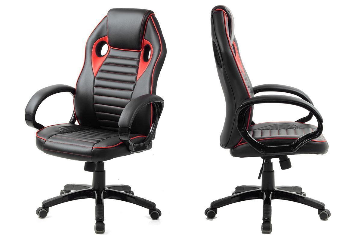 Кресло игровое компьютерное офисное на прорезиненных колесиках Aston черный