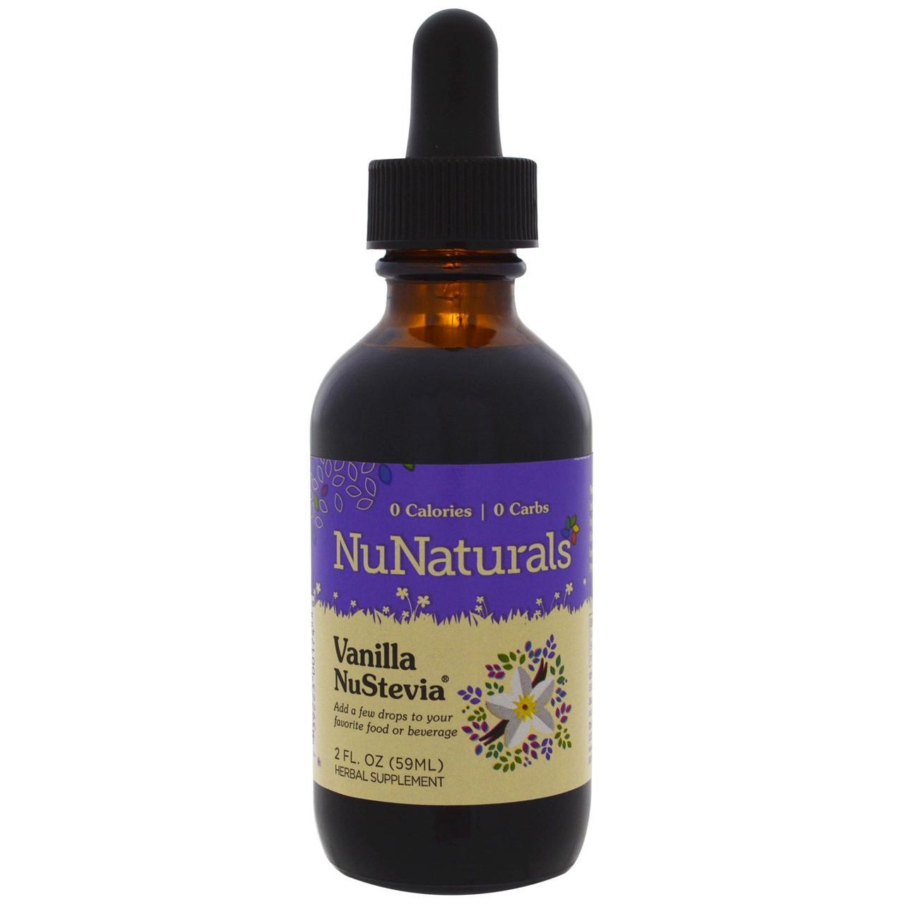 NuNaturals, Vanilla NuStevia, 59 мл (2 fl oz)