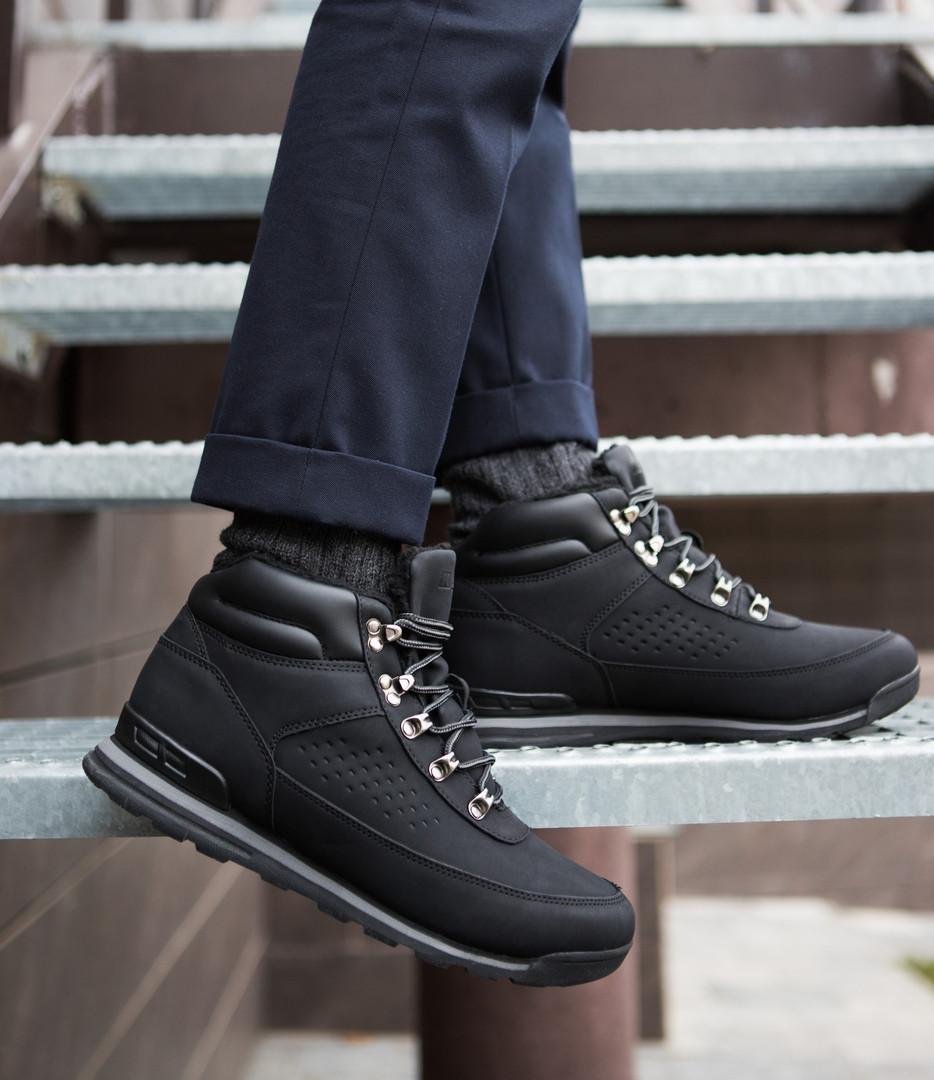 Мужские кроссовки на меху индастри сайн черного цвета