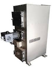 Пиролизный ДВУХКОНТУРНЫЙ котел с пеллетной горелкой DM-STELLA 40 кВт с автоматическим удалением золы, фото 3
