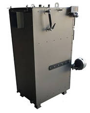 Пиролизный ДВУХКОНТУРНЫЙ котел с пеллетной горелкой DM-STELLA 40 кВт с автоматическим удалением золы, фото 2