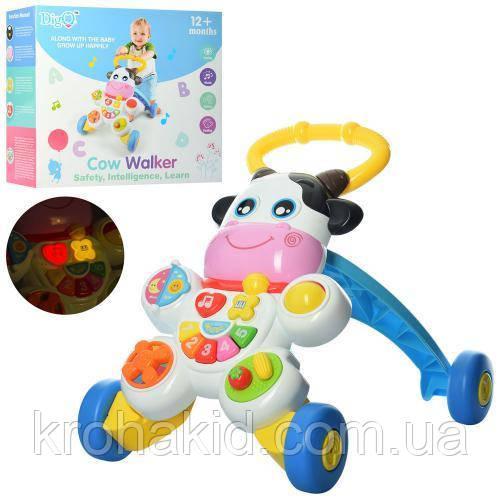 Каталка-ходунки Коровка WD3783 - детский музыкальный игровой центр