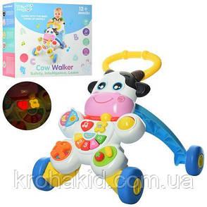 Каталка-ходунки Коровка WD3783 - детский музыкальный игровой центр , фото 2