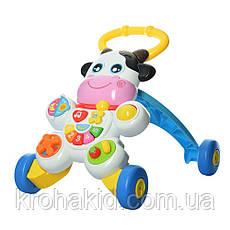 Каталка-ходунки Коровка WD3783 - детский музыкальный игровой центр , фото 3