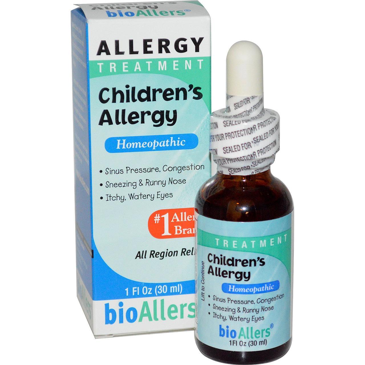 NatraBio, BioAllers, лечение детской аллергии, 30 мл