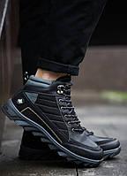 Мужские кроссовки на меху Харос Канада черные