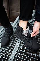 Мужские кроссовки на меху Nike черные топ реплика, фото 3