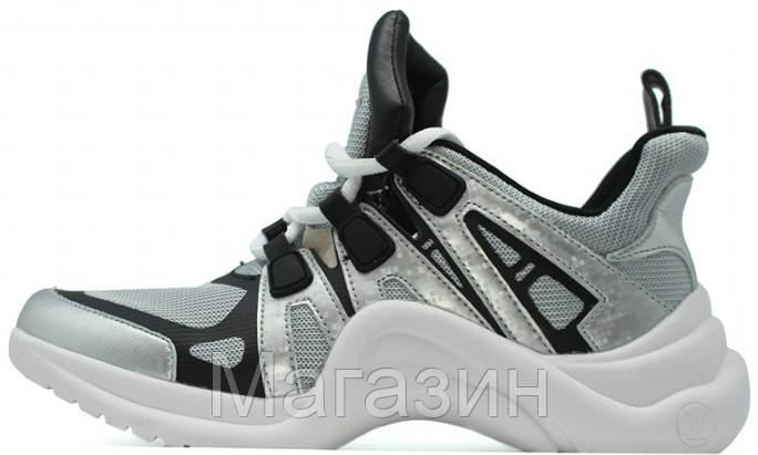 Женские кроссовки Louis Vuitton Archlight Silver (в стиле Луи Витон) серые  - Магазин обуви 111771ff924