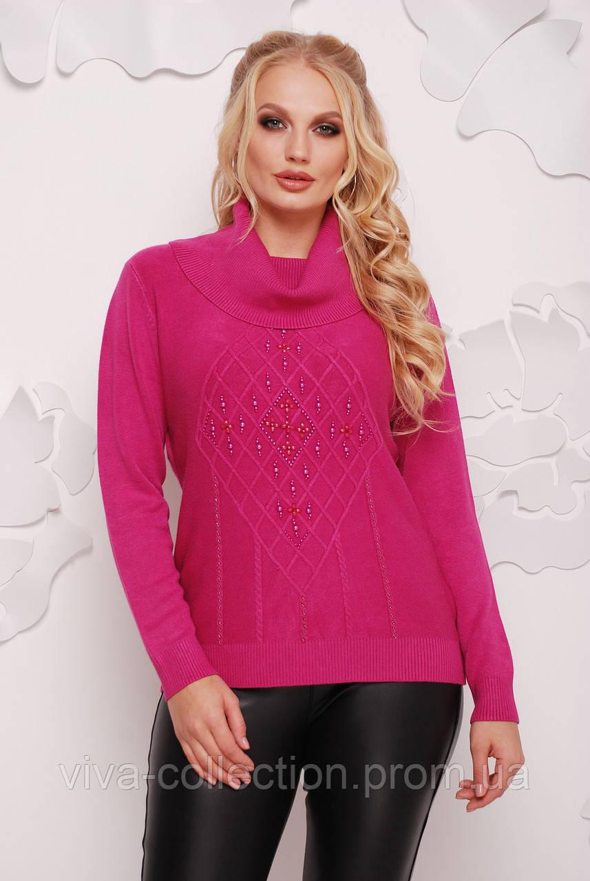 4229eef0e210 Теплый женский свитер с хомутом