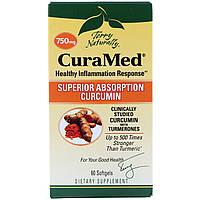 EuroPharma, Terry Naturally, CuraMed, 750 mg, 60 Softgels, фото 1