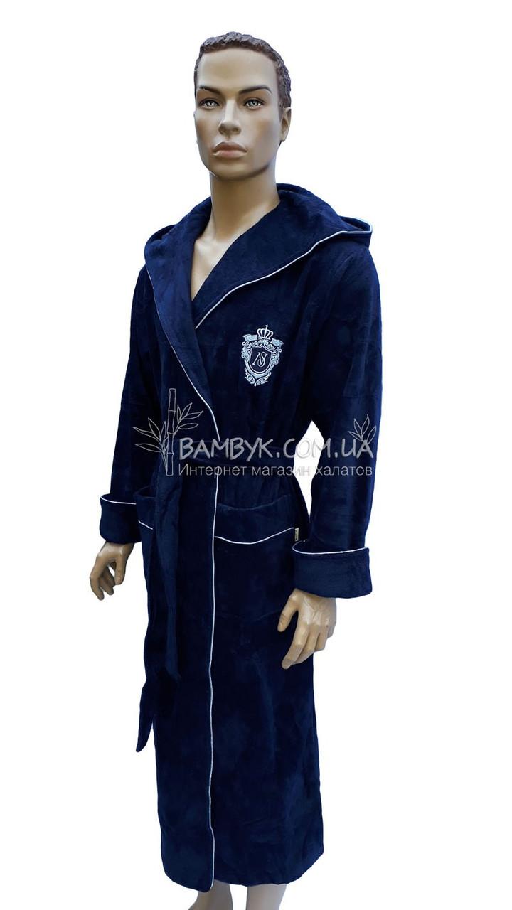 4cc814074ca05 Мужской халат Nusa махровый темно-синего цвета NS-2970: продажа ...