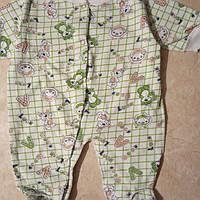 Комбинезон человечек с начесом для новорожденного в роддом, фото 1