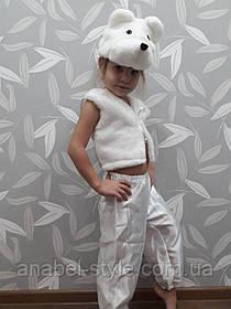 Костюм детский Мишка (белый атлас) Код 00111