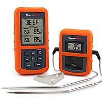 Беспроводной двухканальный термометр (до 100 м) ThermoPro TP-20 (0-300 °С) с таймером и 7 режимами для мяса, фото 1
