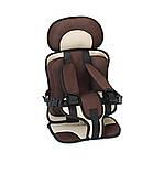Портативное бескаркасное детское автокресло (коричневое с бежевым), фото 2