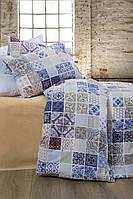 Постельное белье Lotus Premium - Megan синий семейное