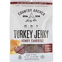 Country Archer Jerky, Джерки из индейки, перцы халапено с медом, 78 г