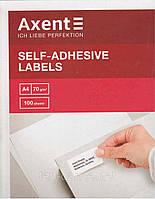 """Етикетки самоклейні """"Axent"""" 2475 70*31,5мм 27шт (100арк.) 4250804854675, фото 1"""