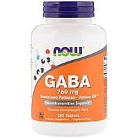 Now Foods, GABA, 750 mg , 120 Tablets
