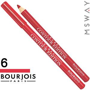 Bourjois - Карандаш для губ Levres Contour Edition - 06 tout rouge