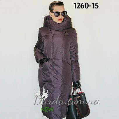 Пуховик женский больших размеров Oversize Veralba 1260 купить в Украине 0be07ad05e2