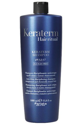 Fanola Keraterm Шампунь для ослабленных волос с маслом ши, макадамии и кератином ,1000мл Фанола