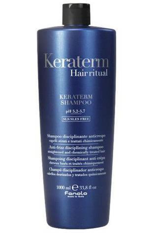 Fanola Keraterm Шампунь для ослабленных волос с маслом ши, макадамии и кератином ,1000мл Фанола, фото 2