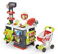 Интерактивный супермаркет Smoby с тележкой и электронной кассой 350213
