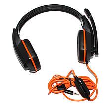 Наушники Gemix W-330 Gaming Black/Orange, 2 x Mini jack (3.5 мм), накладные, кабель 2.4 м, фото 3