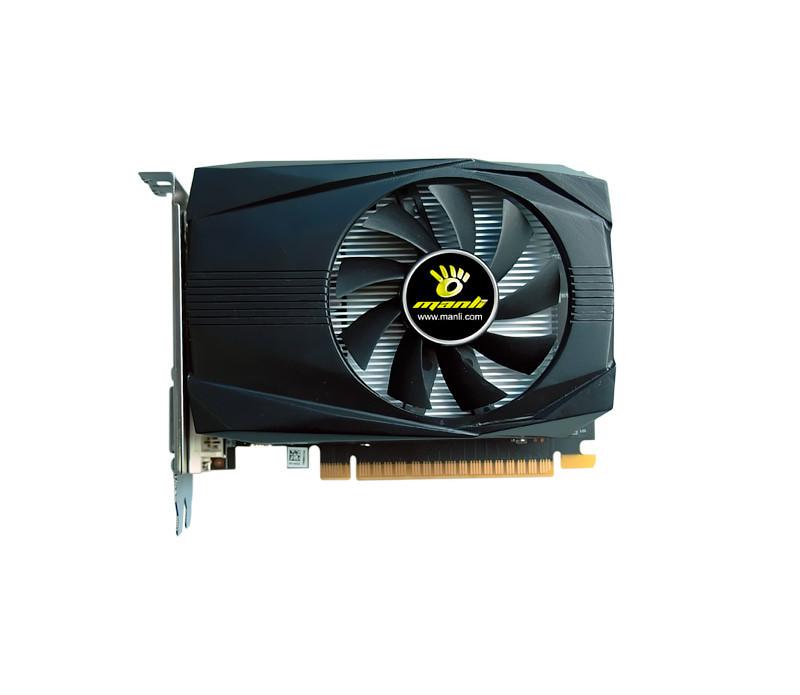 Видеокарта GeForce GTX1050Ti, Manli, 4Gb DDR5, 128-bit, DVI/HDMI/DP, 1430/7008 MHz (M-NGTX1050TI/5RDHDP-F370G)