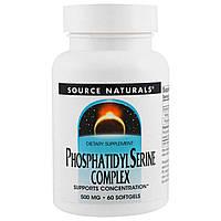 Source Naturals, Стабилизированный комплекс фосфатидилсерина, 500 мг, 60 капсул, фото 1
