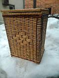 Ящик квадратный маленький с окантовкой, фото 3