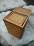 Ящик квадратный маленький с окантовкой, фото 5