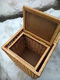 Ящик квадратный маленький с окантовкой, фото 6