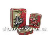 Подарочные коробки металлические Новый год набор 3шт