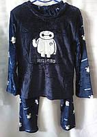 Пижама с роботом махровая теплая женская Big Hero (M/44), фото 1