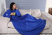 Плед с рукавами флисовый (синий), фото 4