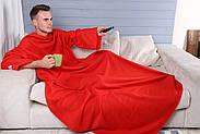 Плед с рукавами флисовый (красный), фото 5