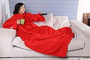 Плед с рукавами флисовый (красный), фото 6