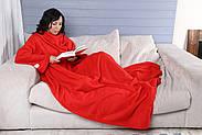 Плед с рукавами флисовый (красный), фото 7