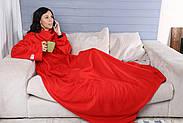 Плед с рукавами флисовый (красный), фото 8