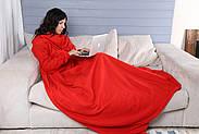 Плед с рукавами флисовый (красный), фото 9