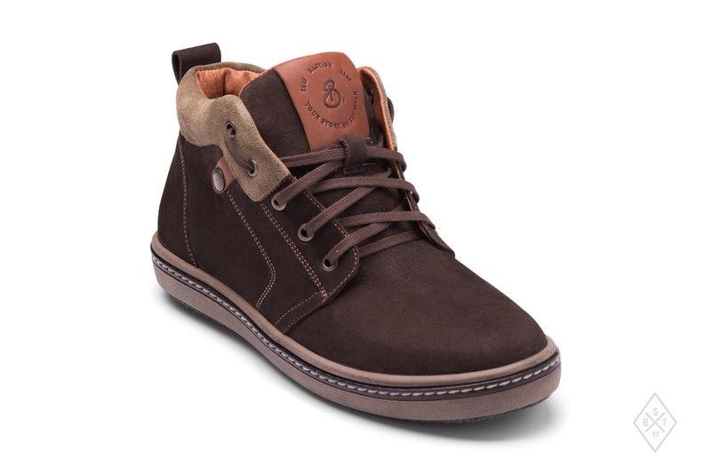 Спортивные мужские ботинки зимние  Натуральный нубук