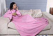 Плед с рукавами флисовый (розовый), фото 3