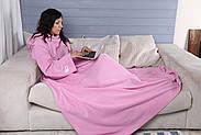 Плед с рукавами флисовый (розовый), фото 5