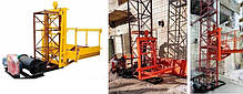 Высота подъёма Н-55 метров. Строительные мачтовые грузовые подъёмники ПМГ г/п 1000кг, 1 тонна., фото 2