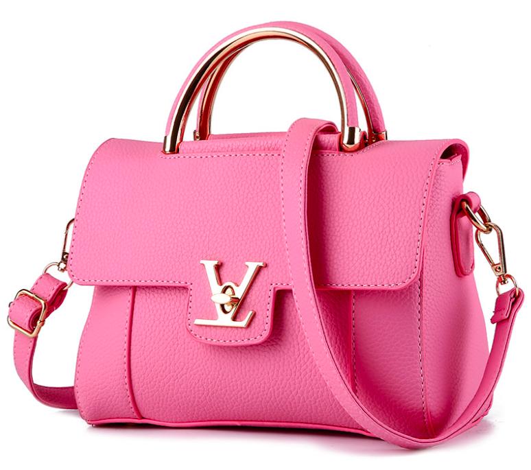 Сумка женская с ручками в стиле Lui Vito через плечо Розовый