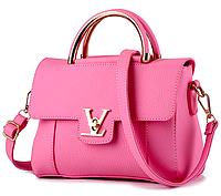 Сумка женская с ручками в стиле Lui Vito через плечо Розовый, фото 1